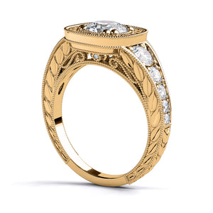 "1.8 TCW 14K Yellow Gold Diamond ""Elizabeth"" Engagement Ring"