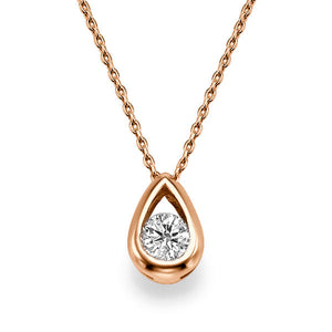 "0.5 TCW 14K Yellow Gold Diamond ""Janey"" Pendant"