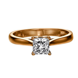 "1 Carat 14K White Gold Moissanite ""Fortune"" Engagement Ring 