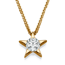 Load image into Gallery viewer, 0.3 Carat 14k Yellow Gold Diamond Star Pendant