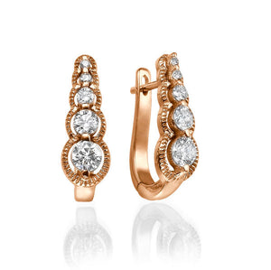 "0.6 Carat 14K Yellow Gold  Diamond ""Alanna"" Earrings"