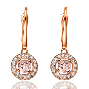 "1.2 Carat 14K Yellow Gold Morganite & Diamonds ""Carole"" Earrings"