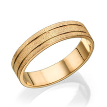 Load image into Gallery viewer, 14K Yellow Gold Sand Pattern Men Wedding Band