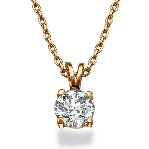 0.4 Carat 14K Rose Gold Diamond