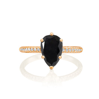 1.7 Carat 14K Rose Gold Black Diamond