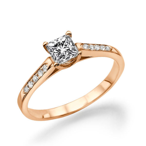 0.5 Carat 14K Rose Gold Moissanite & Diamonds