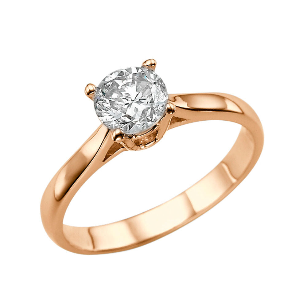 1 Carat 14K Rose Gold Forever One Moissanite