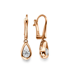 "1 Carat 14K White Gold Diamond ""Janey""  Earrings 