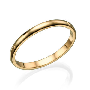 2MM 14K Yellow Gold Classic Men Wedding Band