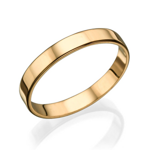 3MM 14K Rose Gold Simple Shiny Men Wedding Band