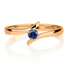 "Load image into Gallery viewer, 0.2 Carat 14K Rose Gold Blue Sapphire ""Isabel"" Engagement Ring"