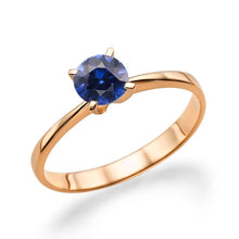 "Load image into Gallery viewer, 0.2 Carat 14K White Gold Blue Sapphire ""Vivian"" Engagement Ring 