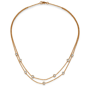 "1.35 TCW 18K Yellow Gold Diamond ""Naila"" Necklace"