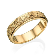 Load image into Gallery viewer, 14K Yellow Gold Vintage Beveled Edges Men Wedding Band