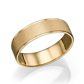 5.8MM 14K Rose Gold Satin Finish Men Wedding Band