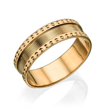 Load image into Gallery viewer, 6.25MM 14K Rose Gold Screw Pattern Edges Men Wedding Band