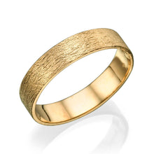 Load image into Gallery viewer, 4.5MM 14K Yellow Gold Swirl Finish Wedding Band