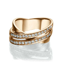 "Load image into Gallery viewer, 0.51 TCW 14K Rose Gold Diamond ""Anna"" Wedding Band"