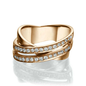 "0.51 TCW 14K Rose Gold Diamond ""Anna"" Wedding Band"