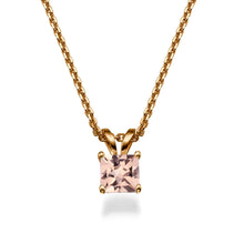 "Load image into Gallery viewer, 2 Carat 14K Rose Gold Morganite ""Leah"" Pendant"