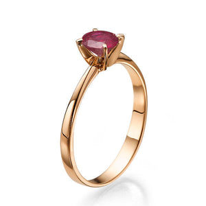 "0.2 Carat 14K Yellow Gold Ruby ""Vivian"" Engagement Ring"