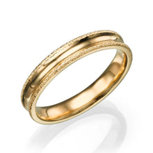 Load image into Gallery viewer, 4MM 14K Yellow Gold Simple Men Wedding Band