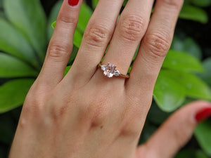 "1.7 Carat 14K White Gold Morganite & Diamonds ""Leona"" Engagement Ring"