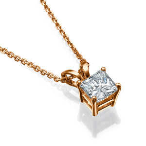 "0.5 Carat 14K Yellow Gold Diamond ""Leah"" Pendants"
