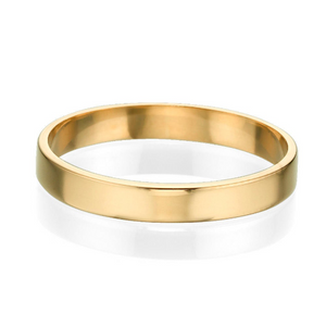 3MM 14K Yellow Gold Simple Shiny Men Wedding Band