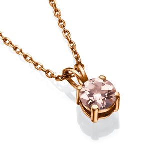 "1.5 Carat 14K Yellow Gold Morganite ""Una"" Pendant"