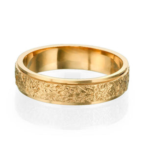 14K Rose Gold Vintage Men Wedding Band