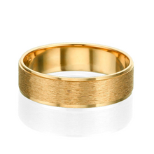 Load image into Gallery viewer, 6MM 14K Yellow Gold Brushed Swirl Finish Men Wedding Band