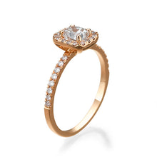 "Load image into Gallery viewer, 1.1 Carat 14K White Gold Diamond ""Andrea"" Engagement Ring"