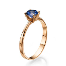 "Load image into Gallery viewer, 0.2 Carat 14K White Gold Blue Sapphire ""Vivian"" Engagement Ring"
