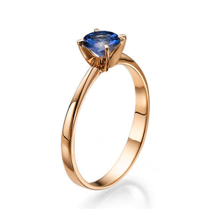 "0.2 Carat 14K White Gold Blue Sapphire ""Vivian"" Engagement Ring"