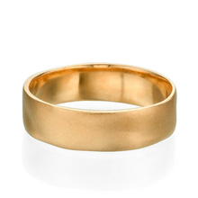Load image into Gallery viewer, 6MM 14K Yellow Gold Matte Finish Wedding Band