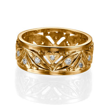 "Load image into Gallery viewer, 0.36 TCW 14K Yellow Gold Diamond ""Sidney"" Wedding Band"