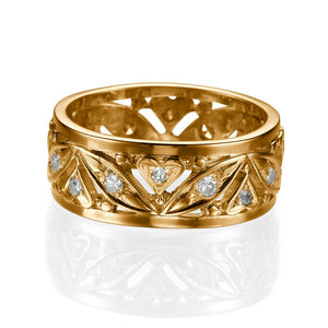 "0.36 TCW 14K Yellow Gold Diamond ""Sidney"" Wedding Band"