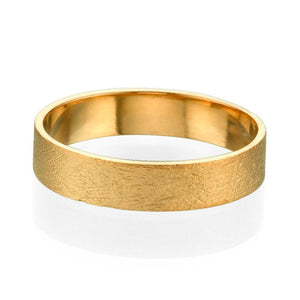 4.5MM 14K Yellow Gold Swirl Finish Wedding Band