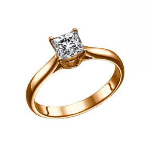 "0.5 Carat 14K Yellow Gold Diamond ""Fortune"" Engagement Ring"