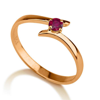 0.2 Carat 14K Rose Gold Ruby