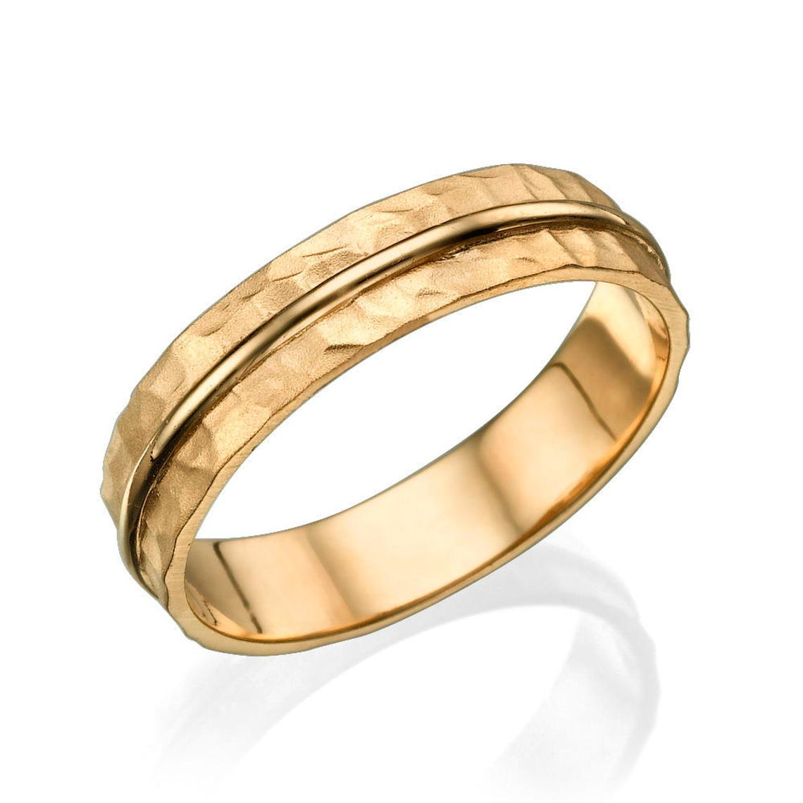 3.8MM 14K Rose Gold Simple Classic Men Wedding Band