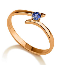 "Load image into Gallery viewer, 0.2 Carat 14K Yellow Gold Blue Sapphire ""Isabel"" Engagement Ring"