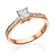 "Load image into Gallery viewer, 1.2 Carat 14K Yellow Gold Moissanite & Diamonds ""Katie"" Engagement Ring"