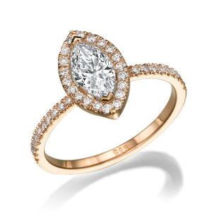 "1.5 Carat 14K Yellow Gold Moissanite & Diamonds ""Melanie"" Engagement Ring"