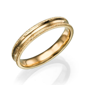 4MM 14K Rose Gold Simple Men Wedding Band