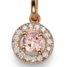 "Load image into Gallery viewer, 1.1 TCW 14K Yellow Gold Morganite ""Carole"" Pendant"