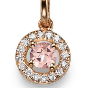 "1.1 TCW 14K Yellow Gold Morganite ""Carole"" Pendant"