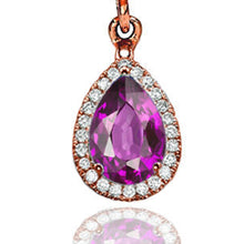 "Load image into Gallery viewer, 2 Carat 14K Yellow Gold Amethyst & Diamonds ""Francie"" Earrings"