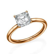 "Load image into Gallery viewer, 1.3 Carat 14K Rose Gold Moissanite ""Casey"" Engagement Ring"